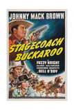 Stagecoach Buckaroo, from Top: Johnny Mack Brown, Fuzzy Knight, Nell O'Day, 1942 Posters