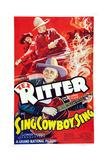 Sing, Cowboy Sing, Al St. John, Tex Ritter, 1937 Prints