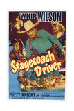 Stagecoach Driver, from Left: Fuzzy Knight, Whip Wilson, Gloria Winters, 1951 Art