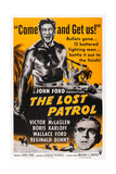 The Lost Patrol, Top: Victor Mclaglen; Bottom: Boris Karloff, 1934 Art