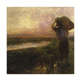 Vesper at Torre Del Lago (Man after Work in Evening) Prints by Plinio Nomellini