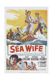 Sea Wife, Joan Collins, (Bottom Left), Richard Burton, (Second from Bottom Left), 1957 Giclee Print