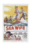 Sea Wife, Joan Collins, (Bottom Left), Richard Burton, (Second from Bottom Left), 1957 Prints
