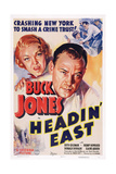 Headin' East, from Left: Ruth Coleman, Buck Jones, 1937 Giclee Print