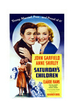 Saturday's Children, from Left: John Garfield, Anne Shirley, 1940 Print