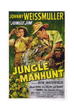 Jungle Manhunt, from Left, Sheila Ryan, Johnny Weissmuller, 1951 Posters