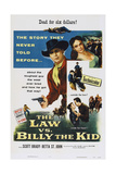 The Law Vs. Billy the Kid, Top from Left: Scott Brady, Betta St. John, 1954 Poster