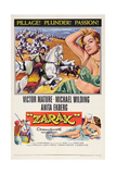 Zarak, Top from Left: Victor Mature, Anita Ekberg, 1956 Posters