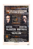 Papillon, from Left Steve Mcqueen, Dustin Hoffman, 1973 Prints