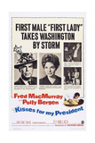 Kisses for My President, from Left: Fred Macmurray, Polly Bergen, 1964 Prints