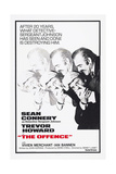 The Offence, from Left: Ian Bannen, Sean Connery, 1972 Giclee Print