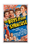 The Boys from Syracuse, Top from Left: Martha Ray, Joe Penner, Rosemary Lane, Allan Jones, 1940 Prints