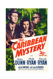 The Caribbean Mystery, from Left: James Dunn, Sheila Ryan, Edward Ryan, 1945 Poster