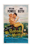 Mr. Peabody and the Mermaid, from Left: Ann Blyth, William Powell, 1948 Kunst