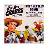 Fuzzy Settles Down, Top Left: Buster Crabbe; Bottom Left: Al St. John, 1944 Prints