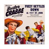Fuzzy Settles Down, Top Left: Buster Crabbe; Bottom Left: Al St. John, 1944 Giclee Print