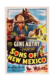 Sons of New Mexico, Top Center and Bottom Right: Gene Autry, 1949 Prints