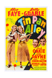 Tin Pan Alley, from Left: Alice Faye, Betty Grable, Jack Oakie, John Payne, 1940 Giclee Print