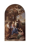 Madonna and Child with Sts. Joseph, Zechariah, Elizabeth, John Baptist Prints by Pompeo Girolamo Batoni