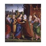 Visitation, Simone Fornari Moresini, 15th-16th C Prints by Simone Fornari Moresini