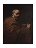 Saint Peter Giclee-tryk i høj kvalitet af Jusepe de Ribera