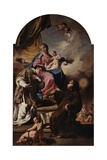 Madonna with Child and Sts. Leonardo and Francis from Paola Giclee Print by Giambattista Pittoni