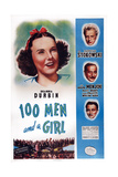 One Hundred Men and a Girl, (Aka 100 Men and a Girl), 1937 Poster