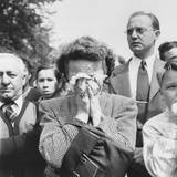 Woman Weeps into Her Handkerchief at the Funeral of President Franklin Roosevelt, Washington, D.C. Posters