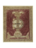Missale Romanum. Illuminated Initial Letters T and E with a Geometric Interlace Prints