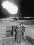 British Enlisted Women, 'Gunner Girls' at Night Action Station in 1940-41 Prints