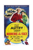 Riders in the Sky, from Left: Gene Autry, Gloria Henry, 1949 Prints