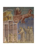 Apparition of St. Francis in a Chariot of Fire Poster by  Giotto