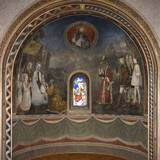 Semicircular Niche Painted with Adoration of the Magi, 15th C Posters