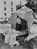 Three Gi Students at the University of Wisconsin Living in a Tent Posters