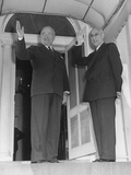 President Truman and Prime Minister Mohammed Mossadegh of Iran at Blair House Photo
