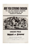 Tower of London, Vincent Price, (Center), 1962 Poster