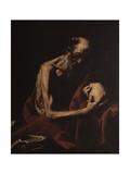 St. Jerome in Meditation Plakat af Jusepe de Ribera