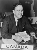 Lester Pearson, Canada's Delegate to the General Assembly of the United Nations, 1947 Photo