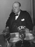 British Prime Minister Winston Churchill at the Quebec Conference, August 17-24, 1943 Posters