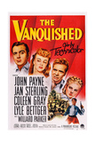 The Vanquished, from Left: John Payne, Jan Sterling, Lyle Bettger, Coleen Gray, 1953 Plakat