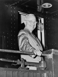 President Harry Truman During His Whistle Stop Campaign in 1948 Photo