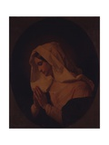 A Blessed Virgin Praying Print by Giuseppe Molteni