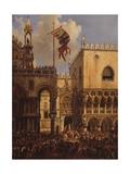 Ceremony at Porta Della Carta, Venice Prints by Louis Querena