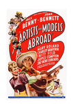 Artists and Models Abroad, from Left: Joan Bennett, Jack Benny, 1938 Posters