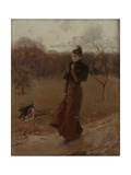 The Walk in the Park Giclee Print by Giovanni Boldini