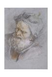 Head of Old Man with Greenish Turban Giclee Print by Sebastiano Ricci