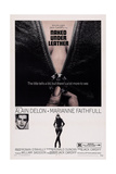 Girl on a Motorcycle, (Aka Naked under Leather), from Left: Alain Delon, Marianne Faithfull, 1968 Posters