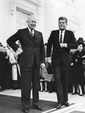 President Dwight Eisenhower and President-Elect John Kennedy before their Transition Meeting Photo