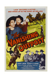 The Vanishing Outpost, Lash La Rue, (Top Left), Fuzzy St. John, (Bottom, Fourth from Right) 1951 Poster