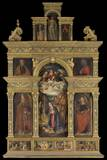 Polyptych with Saints, Mary and Joseph Adoring Baby Jesus Photo by Tommaso Aleni